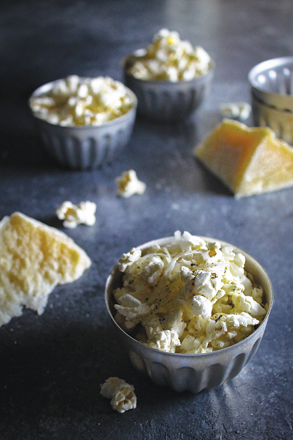 Olive Oil Drizzled Pecorino Popcorn
