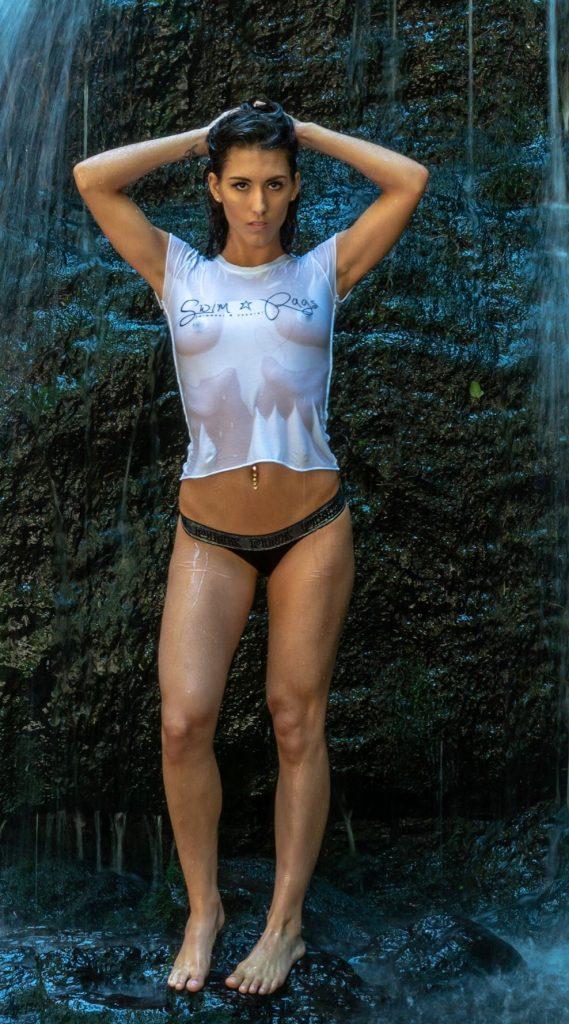 Model: Christine Anne  Swim Rags – Tee Shirt Love