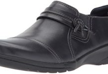 Clarks Women's Cheyn Madi Loafer, Navy Leather, 8.5 W US