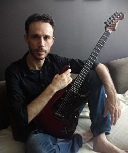 Portugal's Pedro Almeida Guitarist Relaxing the Studio