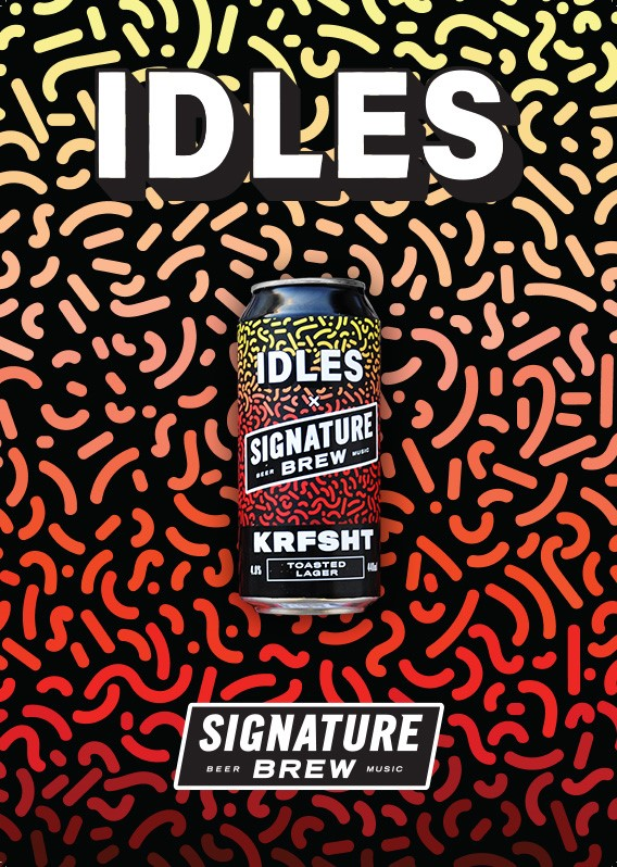 IDLES Announce New Beer 'KRFSHT' with Signature Brew