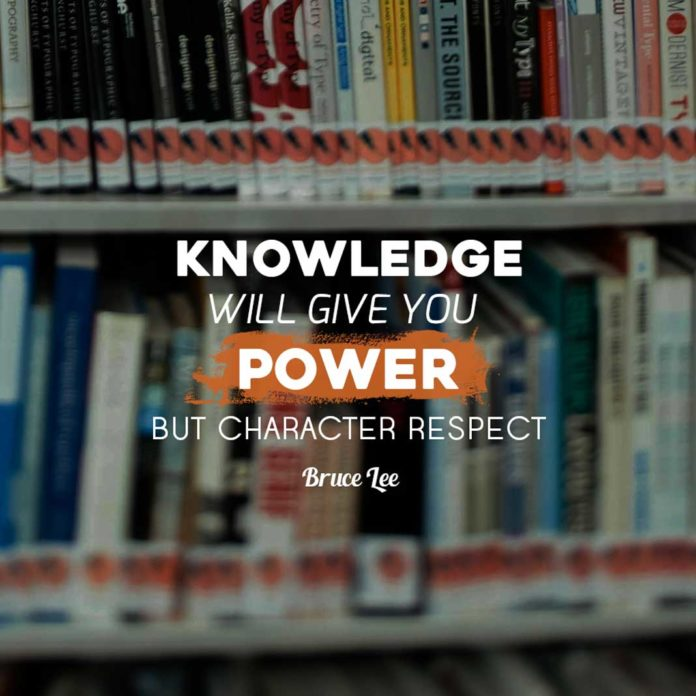 Motivational Quote Meme: Knowledge Will Give You Power